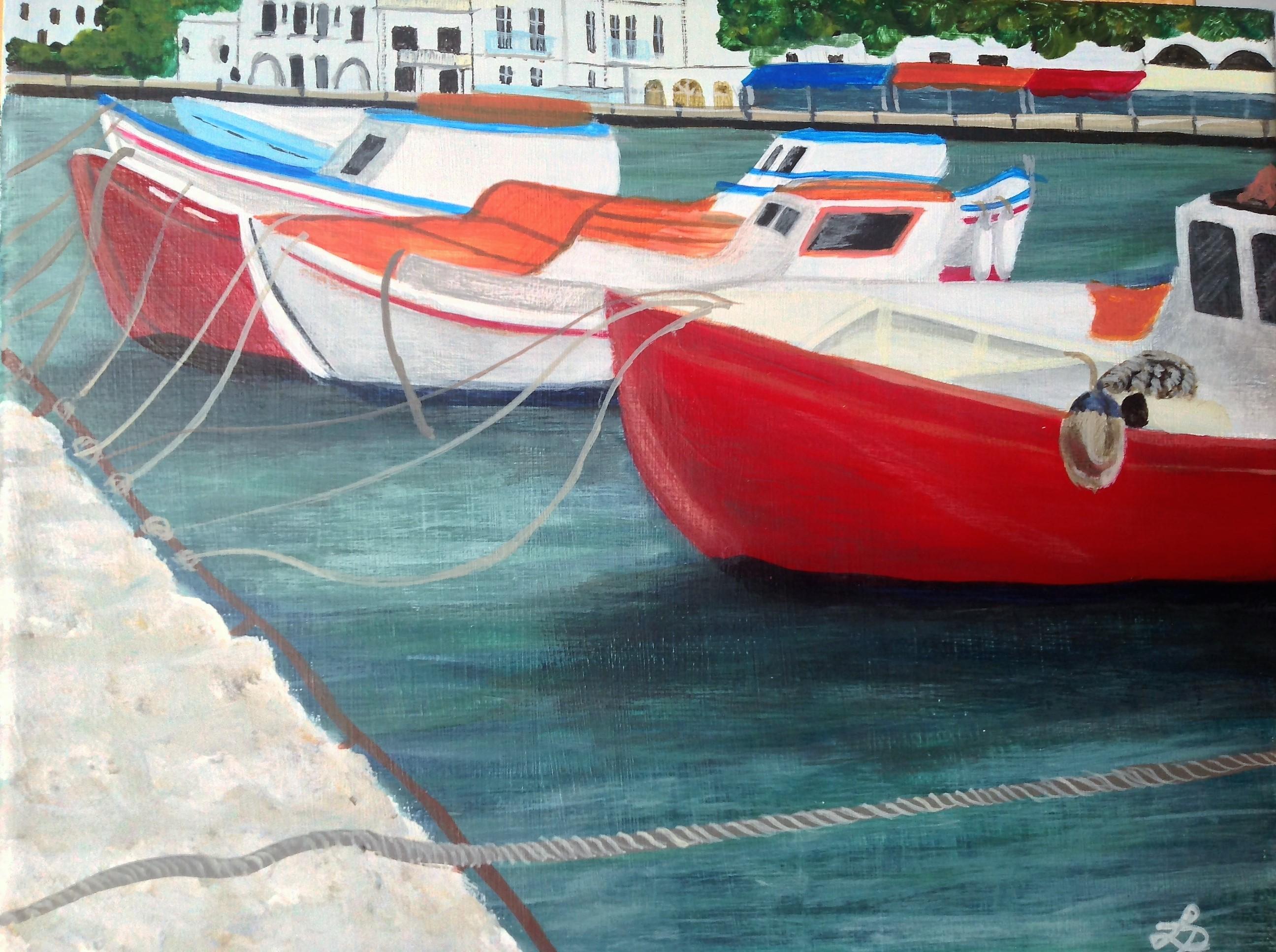 Mykonos et ses bateaux