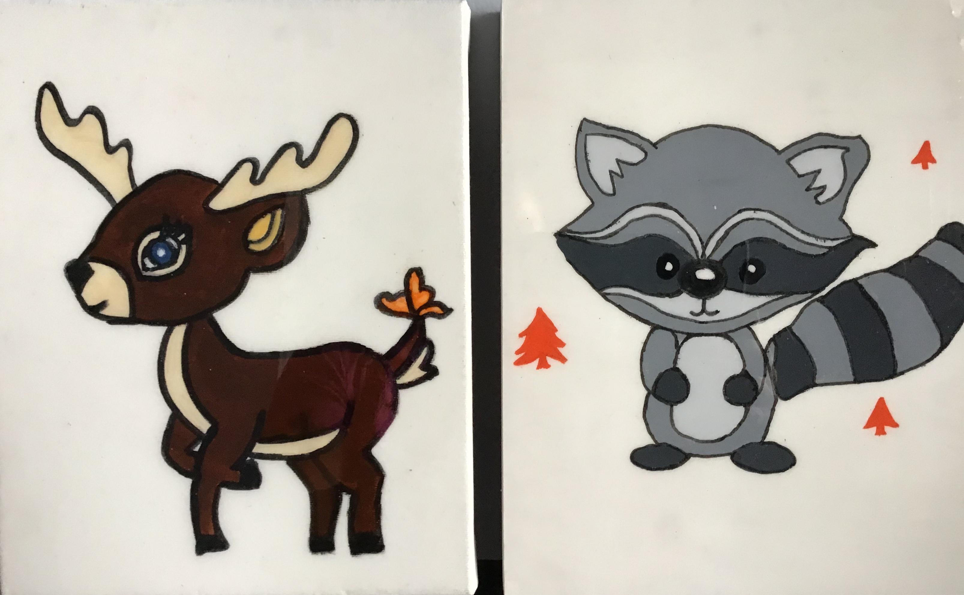 Bambi et coyote