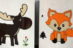 Orignal et renard